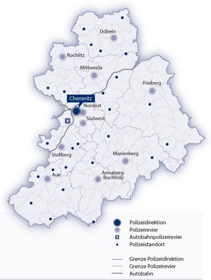 Karte Chemnitz.Polizei Sachsen Polizeidirektion Chemnitz Ihre Polizei