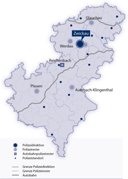 Zwickau Karte.Polizei Sachsen Polizeidirektion Zwickau Ihre Polizei Vor Ort In