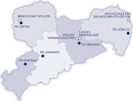 Leipzig Karte Sachsen.Polizei Sachsen Polizei Sachsen Dienststellen Und